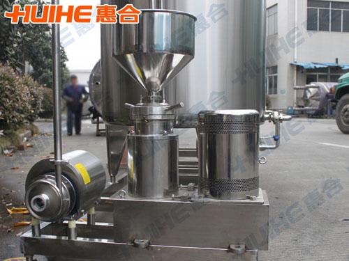 新疆某饮料有限公司――棒棒冰生产线组成设备分体式胶体磨