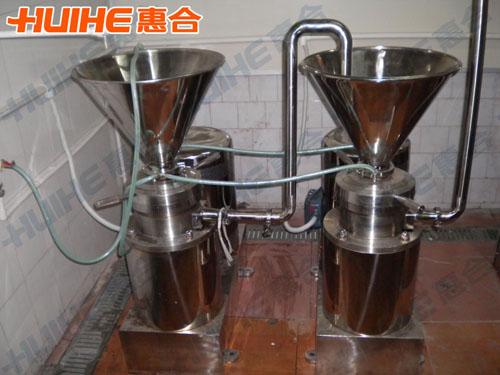 江苏南京某食品厂购买一台卧式胶体磨
