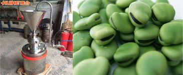 胶体磨在加工蚕豆做豆奶的方法