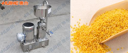 胶体磨加工小米做冰激凌粉的做法及工艺